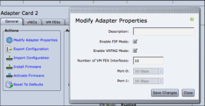 vntag mode for VIC adapter