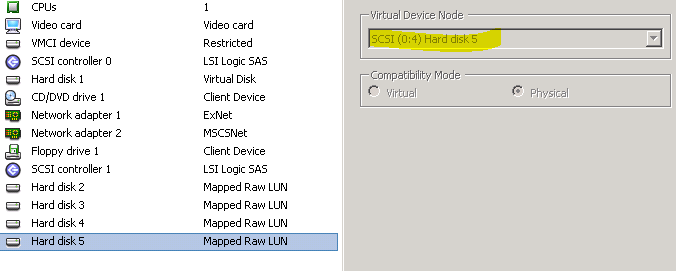 vm settings - Virtual Device